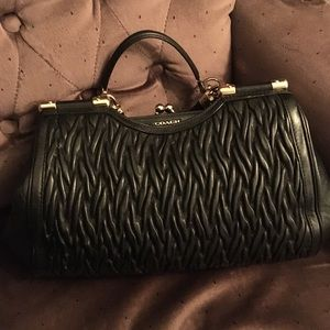 Coach quilted purse